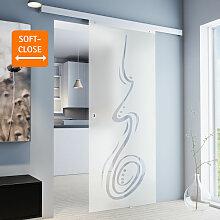 Tür Schiebetür Glas-Tür 880x2035 Zimmertür