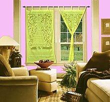 Tür Schiebevorhang Paar für Wohnzimmer Fashion Fenster Volan
