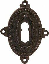 Tür Schloss Rosette Buntbart Schlüsselloch Verzierung aus antikem Eisen