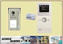 Tür Sprechanlage EFH DT607/FE/ID/S1 180 °ULTRA-WEITWINKEL 2 MP KAMERA + DT16CS Monitor 1 TÜR Video TürVideo SPRECHANLAGE Monitor weiß