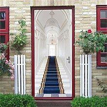 Tür Wandaufkleber Treppen Tür Aufkleber