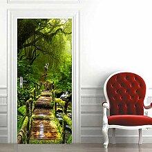 Tür Wandaufkleber Waldtür Aufkleber Wandbild
