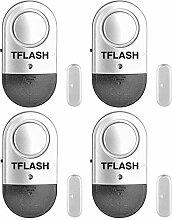 Türalarm, Tür- und Fensteralarm, TFLASH Home Security Ultra-Slim Türfenster Einbrecher Alarm mit Loud 120DB Siren Song (4)