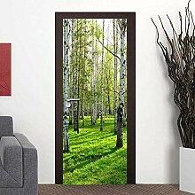 Türaufkleber 19D Tür-Aufkleber 3D Green Forest