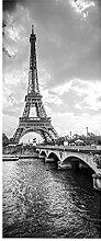 Türaufkleber, 3D-Tapete mit Eiffelturmmuster,