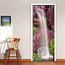 Türaufkleber 41D Tür-Aufkleber Wasserfall