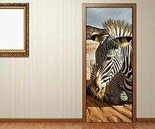 Türaufkleber Afrika Tier Zebra Wüste Sand Tür