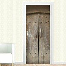 Türaufkleber Alte Tür, Holztor Williston Forge