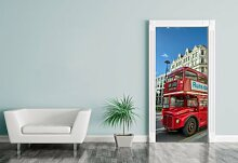 Türaufkleber - Alter Doppeldeckerbus in London -