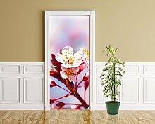 Türaufkleber - Apfelblüten - 90 x 200 cm -