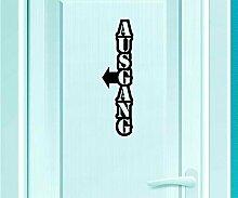 Türaufkleber Ausgang Tür Schild Dekoration Sticker Tattoo Aufkleber 3D340, Farbe:Königsblau Matt;Hohe:120cm