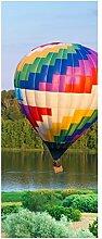 Türaufkleber Ballon bunt Landschaft