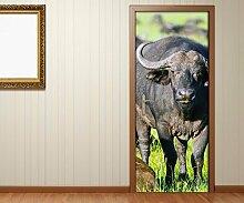 Türaufkleber Bison Tiere Afrika wild Tür Bild