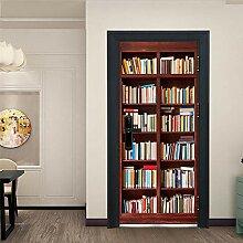 Türaufkleber Bücherregal Landschaft Tür