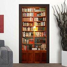 Türaufkleber Bücherregal