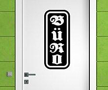 Türaufkleber Büro Tür Bild Deko Arbeitzimmer Sticker Tattoo Aufkleber 3D697, Farbe:Braun Matt;Hohe:50cm