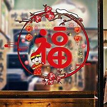Türaufkleber Chinesische Neujahrsdekoration