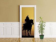 Türaufkleber - Crazy Horse - 90 x 200 cm -