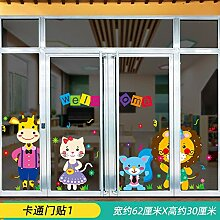 Türaufkleber Dekoration Kinder Cartoon 3D Stereo