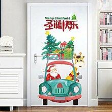 Türaufkleber Dekoration kreative Weihnachtsmann