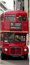 Türaufkleber Doppeldeckerbus