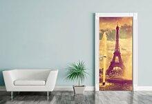 Türaufkleber - Eiffelturm im Retrostyle - Paris
