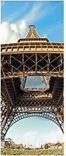 Türaufkleber Eiffelturm Paris Frankreich Skyline
