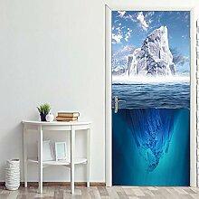Türaufkleber Eisberg Landschaft Tür Aufkleber 3D