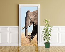 Türaufkleber - Elefant II - 90 x 200 cm -