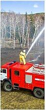 Türaufkleber Feuerwehr Feuerwehrmann Auto Helm Wasser Feuer Tür Bild Türposter Türfolie Türtapete Poster Aufkleber 15A258, Türgrösse:67cmx200cm