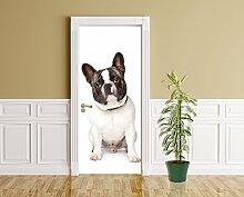 Türaufkleber - Französische Bulldogge - 90 x 200