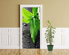 Türaufkleber - Frischer Bambus - 90 x 200 cm -