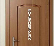 Türaufkleber Friseursalon Tür Badezimmer Sticker Tattoo Aufkleber 3D392, Farbe:Königsblau Matt;Hohe:200cm