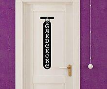 Türaufkleber Garderobe Tür Dekoration Schild
