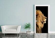 Türaufkleber - großer afrikanischer Löwe - 90 x