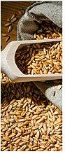 Türaufkleber Hafer Korn Körner Sack Küche Pflanze Tür Bild Türposter Türfolie Türtapete Poster Aufkleber 15A338, Türgrösse:80cmx200cm