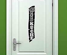 Türaufkleber Hexenküche Tür Bild Deko Küche Sticker Tattoo Aufkleber 3D739, Farbe:Lindgrün glanz;Hohe:70cm