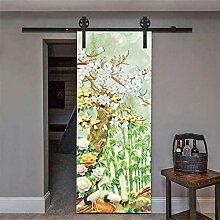 Türaufkleber Hirsch 3D Tür Aufkleber Wallpaper