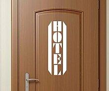 Türaufkleber Hotel Tür Dekoration Sticker Tattoo Aufkleber 3D440, Farbe:Königsblau Matt;Hohe:100cm
