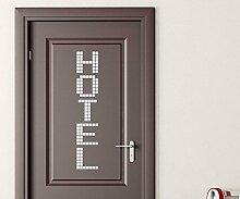 Türaufkleber Hotel Tür Schild Dekoration Sticker Tattoo Aufkleber 3D439, Farbe:Dunkelgrün Matt;Hohe:70cm