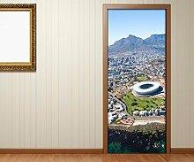 Türaufkleber Kapstadt Afrika Berge Tür Bild
