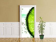 Türaufkleber - Limonenscheibe - Wasser - 90 x 200