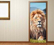 Türaufkleber Löwe Mähne Afrika Tier stolz Tür