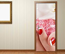 Türaufkleber Nagel Nail Art Nagelstudio Orchidee
