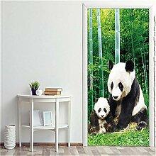 Türaufkleber Panda Tür Aufkleber Selbstklebende