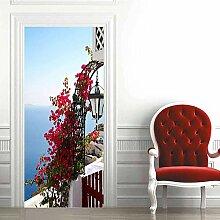 Türaufkleber PVC Wasserdicht 3D Villa Saflor