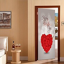 Türaufkleber PVC Wasserdichte Romantische