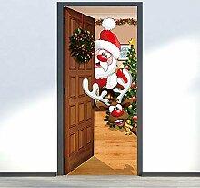 Türaufkleber PVC Wasserdichter Weihnachtsmann