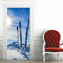 Türaufkleber PVC Wasserdichtes 3D Ski Board
