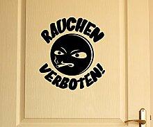 Türaufkleber Rauchen Verboten Tür Anschrift Sticker Tattoo Aufkleber 3D523, Farbe:Pink glanz;Hohe:60cm